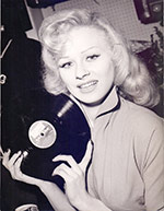 Sabrina and her vinyl record