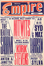 Sabrina at the Empire Theatre - poster 15 Oct 1956